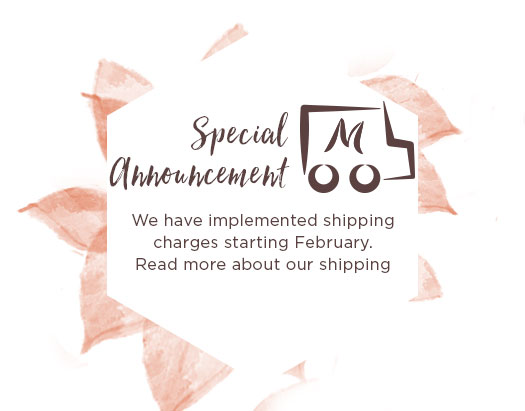 Shipping Announcement. We are implementing shipping fee in February